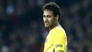 Neymar, en el juego entre el PSG y Lille