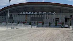 Fachada del Wanda Metropolitano, casa del Atlético de Madrid