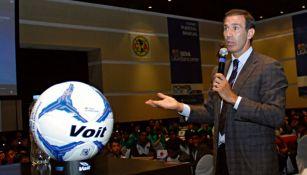 Francisco Gabriel de Anda, en una charla de la Liga MX
