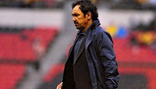 Hugo Sánchez previo a un partido con Pachuca