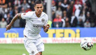 Carlos Salcedo en un partido del Frankfurt