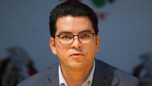 Álvaro Ortiz, durante una conferencia de prensa