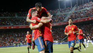 España celebra victoria frente a Croacia en Liga de Naciones