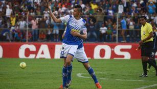 Othoniel Arce en partido con Suchitepéquez