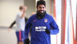 Costa, tras un entrenamiento con el Atlético