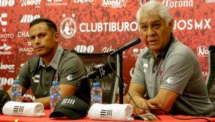 Mario Trejo, director deportivo del club, en conferencia de prensa