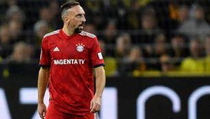Ribéry en partido con el Bayern Munich