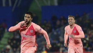 Suárez festeja gol contra Getafe