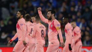 Messi celebra gol con el Getafe