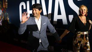 José Saturnino Cardozo en la premier de la película de Chivas