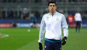 Gutiérrez previo a un partido con PSV