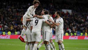 Real Madrid celebra su anotación frente al Leganés
