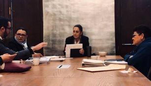 Claudia Sheinbaum, durante una reunión