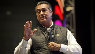 Jaime Rodríguez Calderón, 'El Bronco', durante una  conferencia