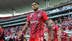 Fabricio Silva antes de un partido del Veracruz