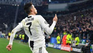 Cristiano Ronaldo festeja uno de sus goles contra el Atlético