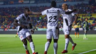 Nahuelpán festeja su gol contra Monarcas