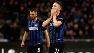Lamentos del Inter tras el silbatazo final