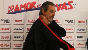 Tomás Boy en su presentación con Chivas
