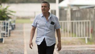 Vergara, en un entrenamiento de las Chivas