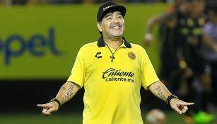 Maradona festeja triunfo con Dorados