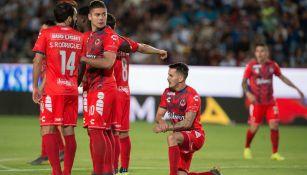 Jugadores del Veracruz durante choque contra Pachuca