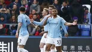 Manchester City celebrando un gol ante Crystal Palace