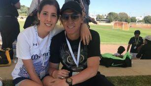 Leandro Augusto y su hija Leticia Oldoni