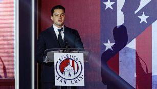 Alberto Marrero en conferencia de prensa