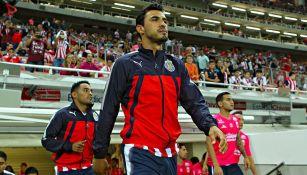 Oswaldo Alanís previo a un partido con Chivas