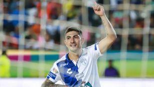 Guzmán festeja gol en el Estadio Hidalgo