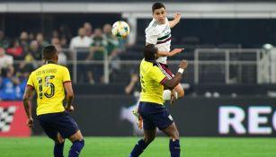 Jorge Sánchez, en el partido contra Ecuador