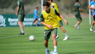 Diego Lainez durante entrenamiento con Betis
