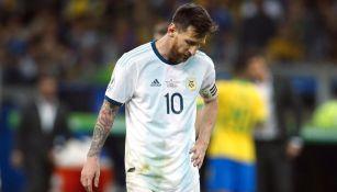 Leo Messi en lamento tras caer ante Brasil
