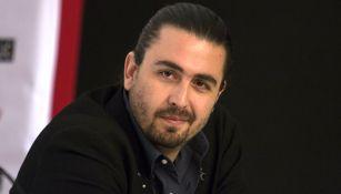 Amaury Vergara durante una conferencia de prensa