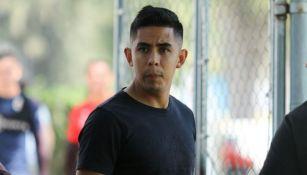 Calderón, en un entrenamiento de Chivas