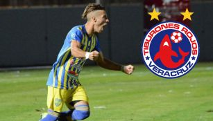 Federico Illanes celebra gol con Club Atlético Juventud Unida