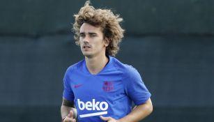 AntoineGriezmann, en una práctica del Barcelona