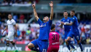Pablo Aguilar festeja su gol contra Juárez