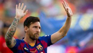 Messi, tras un partido del Barcelona