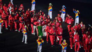 Delegación mexicana en la clausura de Juegos Panamericanos