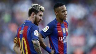 Neymar y Messi, en un partido del Barcelona