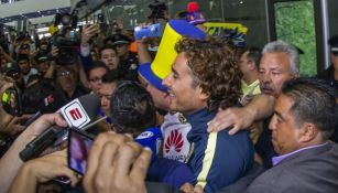Ochoa, en su arribo a la CDMX