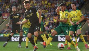 David Silva durante el partido ante el Norwich City