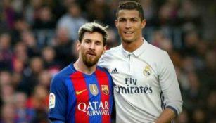Messi y Cristiano en un enfrentamiento entre Barcelona y Real Madrid