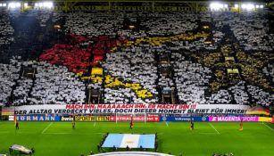 Mosaico que la afición alemana presentó previo al Alemania vs Argentina