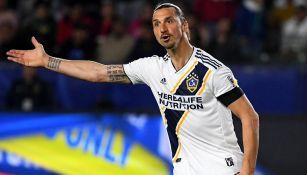 Zlatan Ibrahimovic en un partido con Galaxy