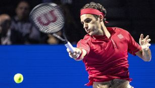 Roger Federer durante un partido