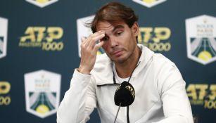 Rafael Nadal lamenta su salida del Masters 1000 de París