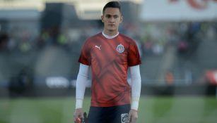 Raúl Gudiño en entrenamiento de Chivas